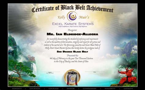 Karate Black Belt Certificate Templates by Muir S Excel Karate Black Belt Testing Feb 4