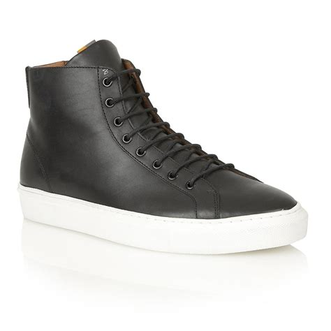 black and white sneakers mens buy s frank wright logan black white leather high tops