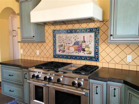 Painted Kitchen Backsplash Photos Inspiring Painted Tiles Kitchen Backsplash Homedcin