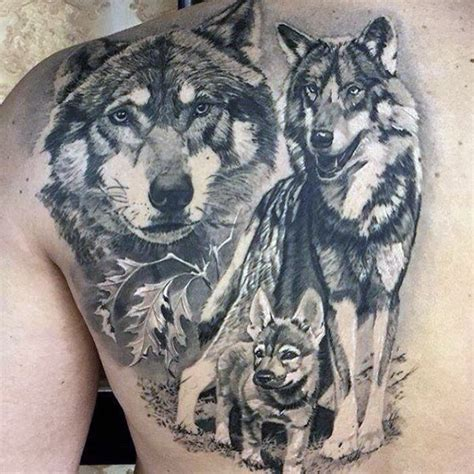 wolf pack animal back tattoos for guys tattoos win