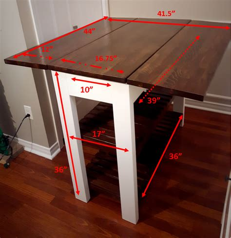 Diy Kitchen Island Cart diy drop leaf kitchen island cart bachelor on a budget