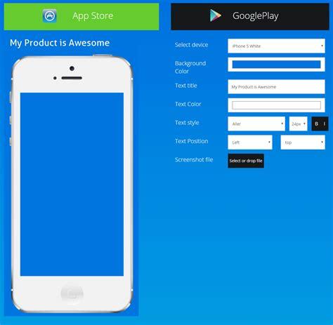 app design generator quot app screenshot generator quot that allows you to create