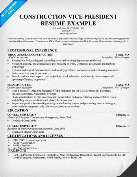 sle resume construction cost estimator construction estimators resume sle resumecompanion resume sles across all