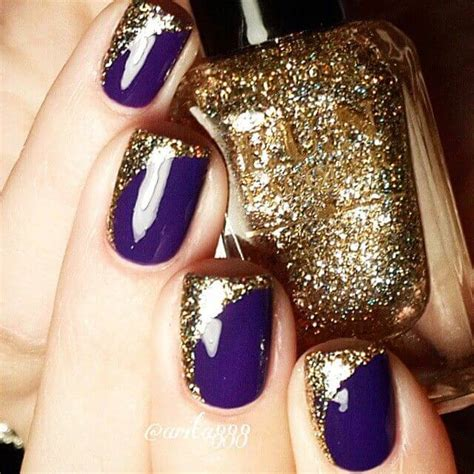 Purple And Gold Nail Designs top 7 best purple nail designs ideas for winter