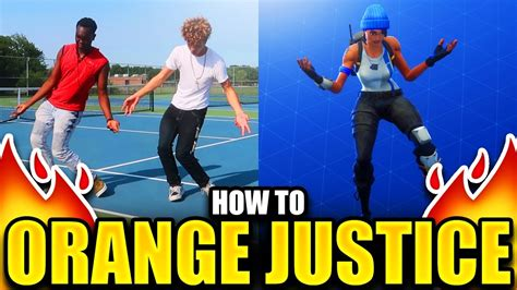 fortnite dance orange justice tutorial step  step guide
