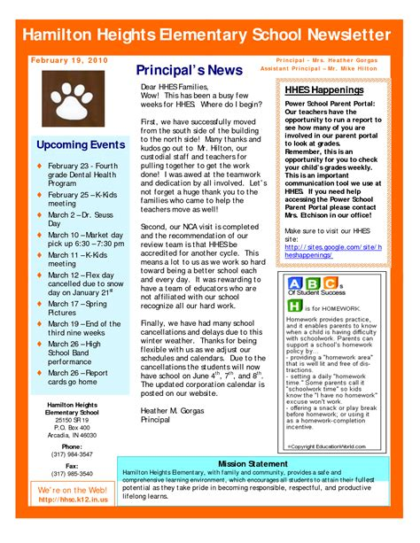 Best Photos Of Sle School Newsletter Templates Free Preschool Newsletter Template Sle Newsletter Template