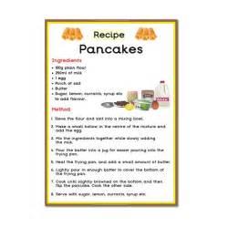 printable pancake recipes pancake recipe poster primary treasure chest