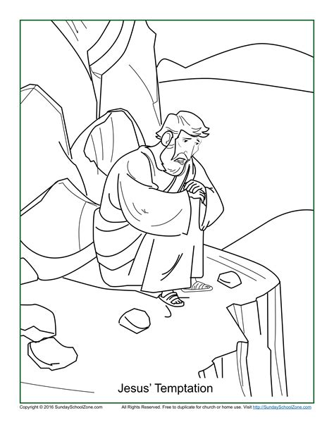 coloring pages of jesus temptation satan tempts jesus from thru the bible coloring pages