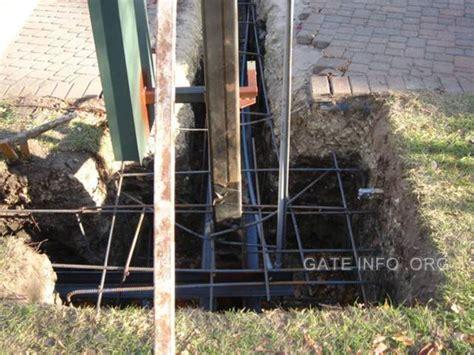 swing gate installation photo slide show of driveway gate installation