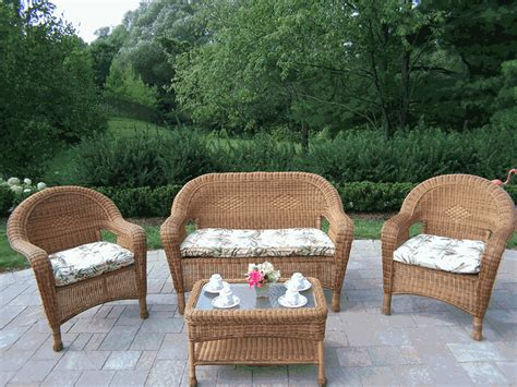 white wicker patio furniture cheap goplus pc rattan patio furniture set garden lawn