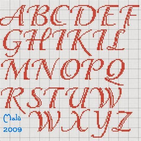 lettere minuscole punto croce hobby lavori femminili ricamo uncinetto maglia