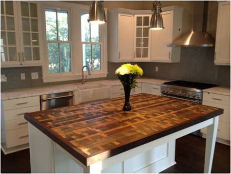 kitchen island wood countertop 31 best reclaimed wood kitchen island images on pinterest