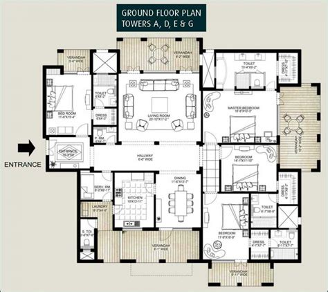 ground floor 3 bedroom plans apartments 3 bedroom ground floor plan kerala style