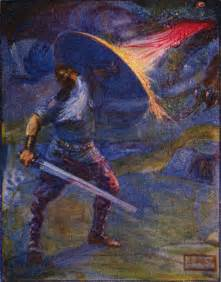 Beowulf Three Battles Essay by File Stories Of Beowulf Fighting The Jpg Wikimedia Commons