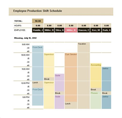 Production Schedule Template Excel Free production scheduling template 22 free word excel pdf documents free premium