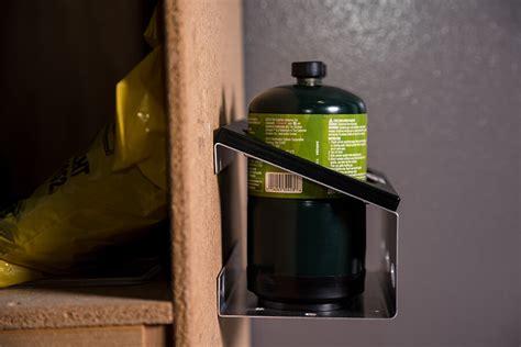 wall mount 1lb propane bottle rack 2 bottle rack fish