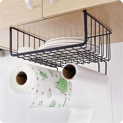 cabinet hanging basket wardrobe storage rack kitchen organizer cabinet shelf