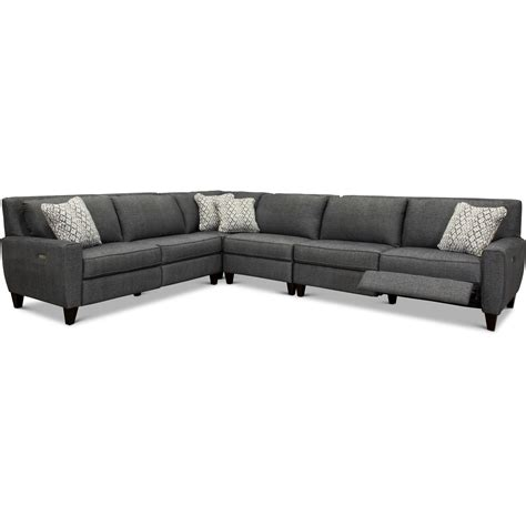 4 sectional sofa 4 sectional sofa with recliner baci living room