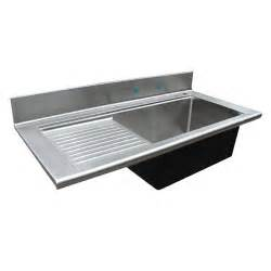 awesome Kitchen Sink With Drainboard And Backsplash #1: handcrafted-metal-kitchen-bar-sinks-with-backsplash-drainboard-and-natural-grain-finish-500.jpg