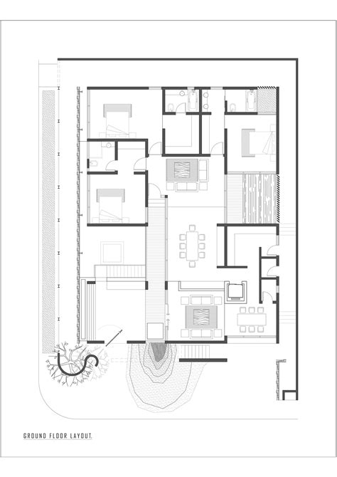 ground floor plan ground floor modern house