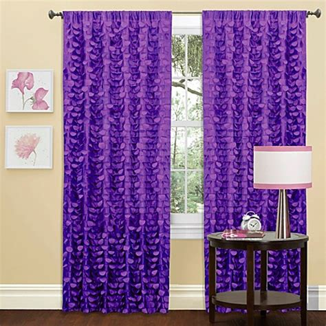 purple window curtains gigi window curtain panel in purple bed bath beyond