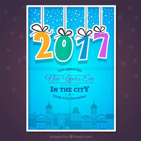 new year poster images blue new year poster vector premium