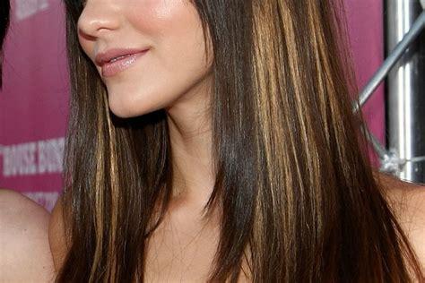 brown with underneath hair hair brown lowlights highlights underneath blonde medium