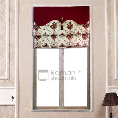 patterned fabric roman shades decorative flat shaped patterned roman shade curtain with