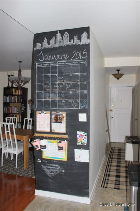 chalkboard kitchen wall ideas dsb chalkboard command center in the kitchen once