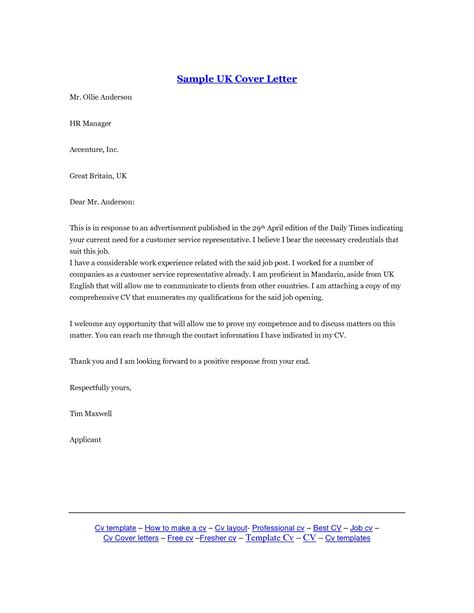 Cover Letter Exle For Embassy Cover Letter Sle Uk The Best Letter Sle