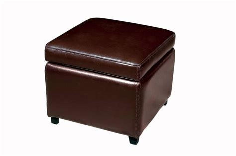 leather storage ottoman cube wholesale interiors omy 162 full leather storage cube