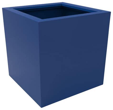 large athens planter blue modern outdoor pots