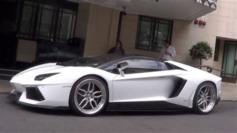 one off custom lamborghini aventador roadster accelerations in london youtube