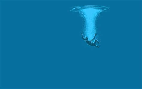 Creative Wallpaper drowning wallpaper meh ro
