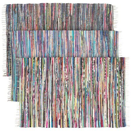 area rag rugs large rainbow chindi area rag rug recycled cotton multi