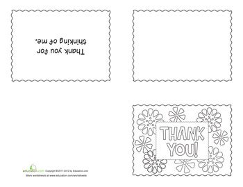 easy thank you card template kindergarten printable thank yous education