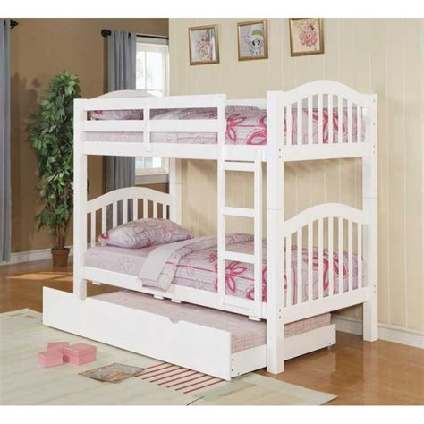 Metal Bunk Beds With Trundle White Iron Bed With Trundle Amazoncom Columbia Staircase Bunk Bed With Trundle Bed