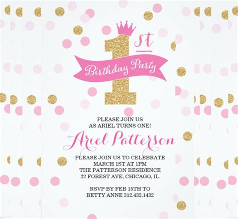 princess theme invitation template 31 birthday invitation templates sle exle format free premium