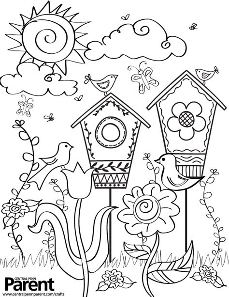 time garden coloring pages creative kids springtime coloring page central penn parent