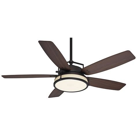 Ceiling Fans With Lights And Remotes Shop Casablanca Caneel Bay 56 In Maiden Bronze Downrod Mount Indoor Outdoor Ceiling Fan With