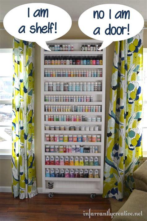 diy hidden storage door craft organization ideas