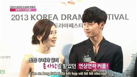 drama lee jong suk youtube vietsub korean drama award lee jong suk and lee bo