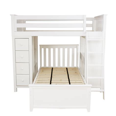 all in one loft bed all in one loft bed storage study twin bed white jackpot