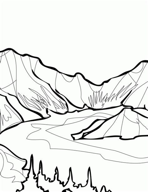 Mountain Goat Cartoon Coloring Home Mountain Coloring Page 2