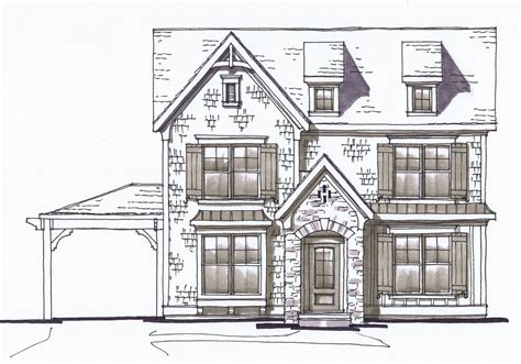 House Map Drawing front elevation sketch by lee ryfun alr architects flickr