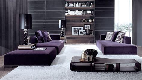 Ordinaire Deco Salon Mauve Gris #1: modern-living-room-with-purple-sofa-and-white-carpet-under-feet.jpg