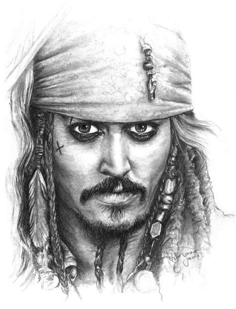 sketch tattoo johnny depp saatchi art jack sparrow drawing by ryan jones