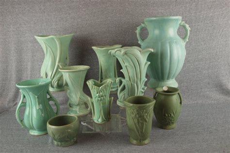 Mccoy Vase Green by Mccoy Pottery Lot Of 10 Green Vases Mccoy Pottery