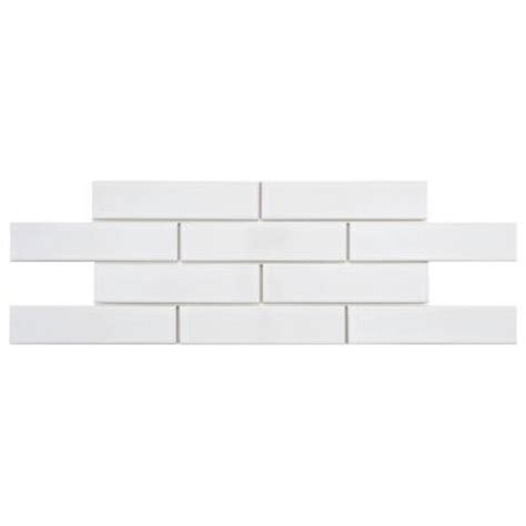 Home Depot Subway Tile by Merola Tile Metro Soho Subway Glossy White 2 In X 7 1 2