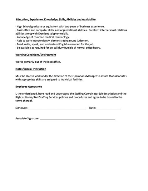 description for staffing coordinator staffing coordinator create my resume create my